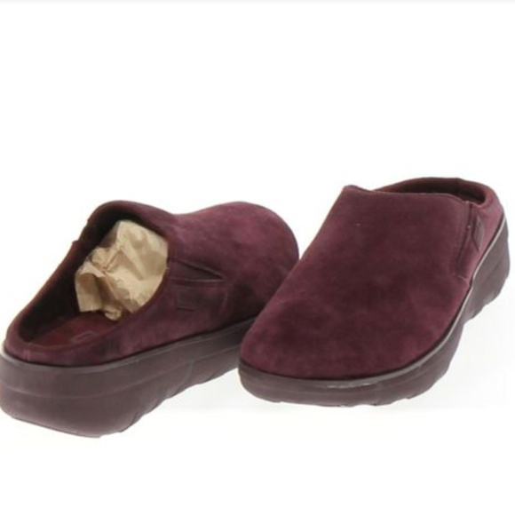 Fitflop Loaff Suede Clog Womens Shoes